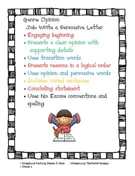 Writing Job Charts