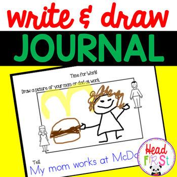 Write & Draw for Preschool & Kindergarten | Writing Prompts | Journal