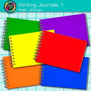 Writing Journal Clip Art {Back to School Supplies for ELA Resources} 1