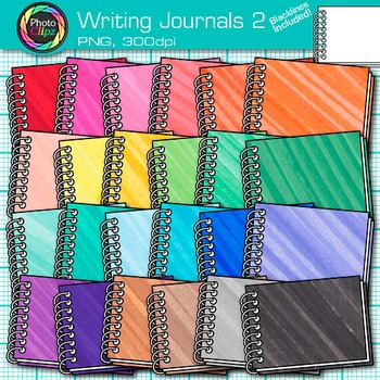 Writing Journal Clip Art {Back to School Supplies for ELA