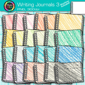 Writing Journal Clip Art 3 - Writing Journal Prompt Use