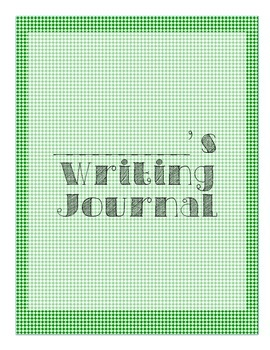 Writing Journal Cover