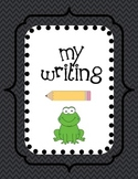 Writing Journal Cover - Frogs