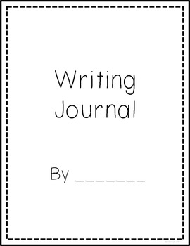 Writing Journal Cover and Lined Page Format {FREE}