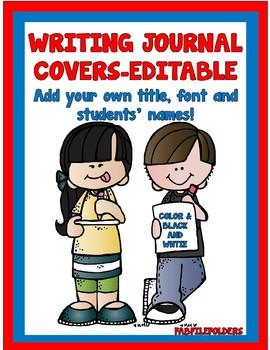 Editable Writing Journal Covers