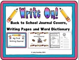Writing Journal Covers, Writing Pages and Word Dictionary