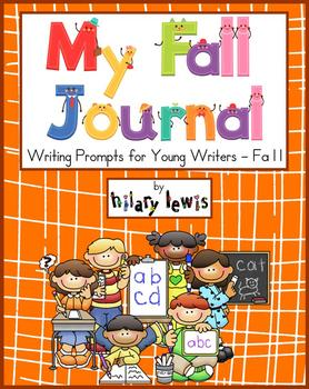 Writing Journal - Fall Edition with Prompts and Pictures for Young Writers