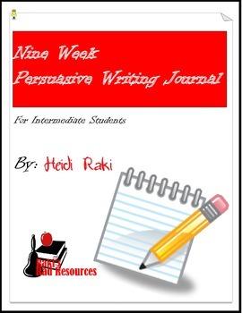 Writing Journal: Genre - Persuasive Writing