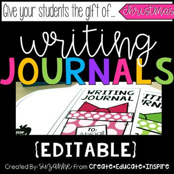 Writing Journal Gifts (Christmas) EDITABLE