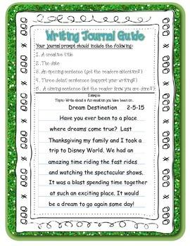 Writing Journal Guide