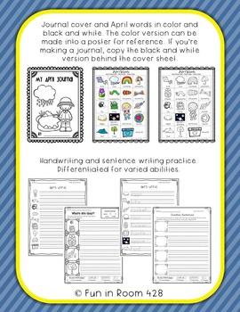 Writing Journal / Homework ~ April {No Prep}
