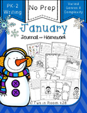 Writing Journal / Homework ~ January {No Prep}