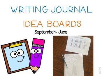 Writing Journal Idea Boards