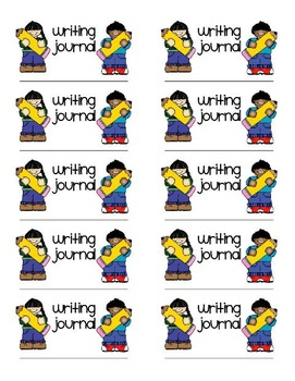 """Writing Journal Labels (Avery 2""""x4"""")"""