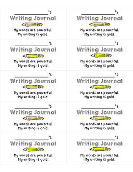 Writing Journal Labels (Avery 5163)