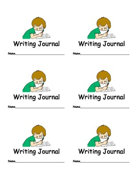 Writing Journal Labels for Classroom Organization Classroom Management