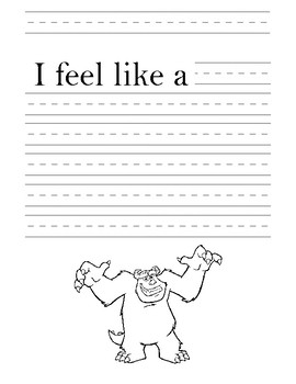 Writing Journal Monsters Inc Paper