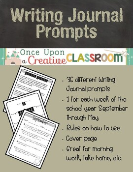 Writing Journal Prompts (1 Year's Worth)