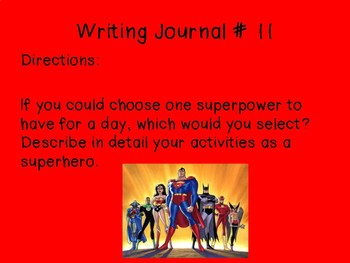 Writing Journal Prompts