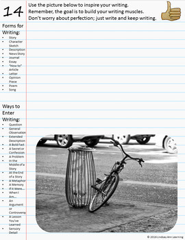 Daily Writing Bellringers for Middle School and High School