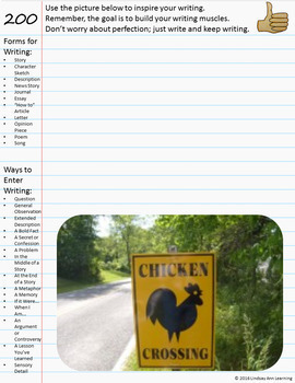 Year-Long Writer's Notebook for Google Drive