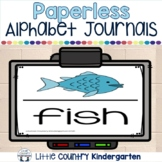 Paperless Morning Work: Projectable & Printable Alphabet Journals