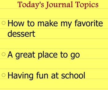 Writing Journal Prompts Set 2
