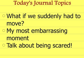 Writing Journal Prompts Set 4