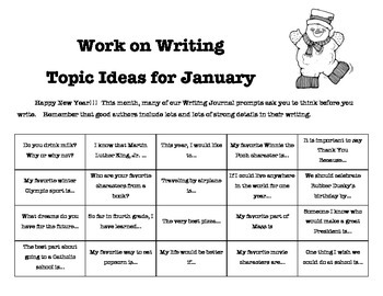 Writing Journal Prompts for January