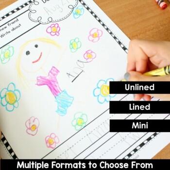 Writing Journal Prompts for Preschool and Kindergarten BUNDLE
