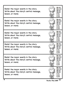 Writing Journal Prompts for Second Grade Common Core Based and EDITABLE