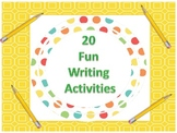 One Month of Fun Writing Prompts --- Inspiring students to