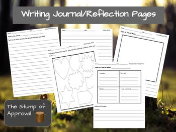 Writing Journal Response Pages