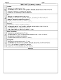 Writing Journal Rubric