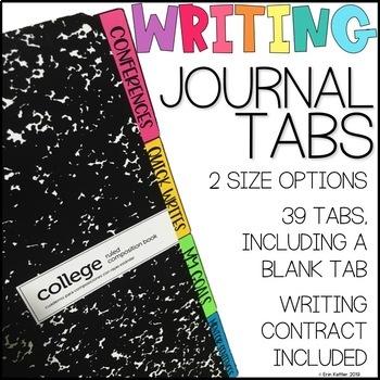 Writing Journal Tabs