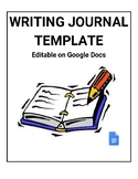 Writing Journal Template (Editable on Google Docs)