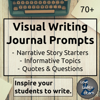 Writing Journal Visual Prompts