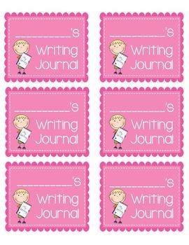 Writing Journal & Writing Folder Labels