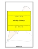 Writing Journal for Independent Reading Sample