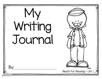 Writing Journal for Reach for Reading - Kindergarten (Unit 1)