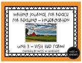 Writing Journal for Reach for Reading - Kindergarten (Unit 3)