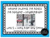 Writing Journal for Reach for Reading - Kindergarten (Unit 5)