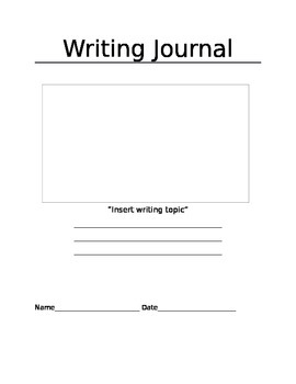 Writing Journal for preschoolers