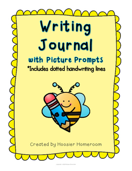 Writing Journal with Picture Prompts *Includes dotted hand