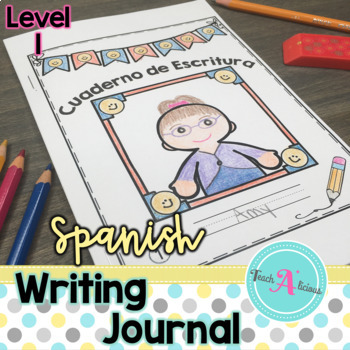 Writing Journal with Picture Prompts   in Spanish