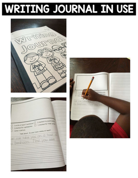 Writing Journal with Sentence Starters and Handwriting Lines for Primary Grades