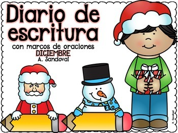 Writing Journal with Sentence Frames DECEMBER in Spanish