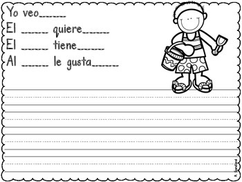 Writing Journal with Sentence Frames JUNE in SPANISH