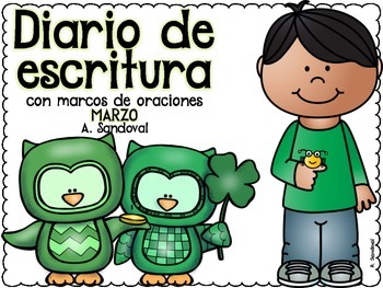 Writing Journal with Sentence Frames MARCH in Spanish