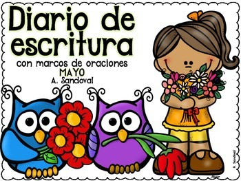 Writing Journal with Sentence Frames MAY in SPANISH